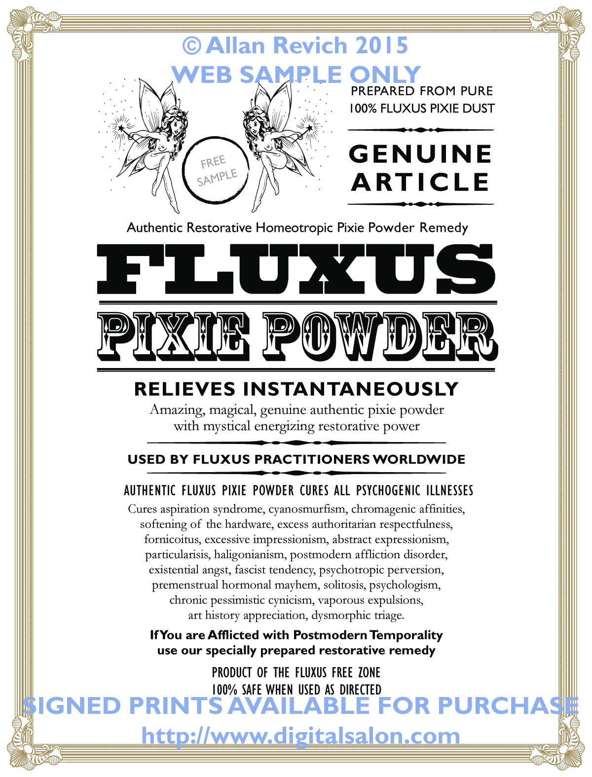 Genuine Authentic Fluxus Pixie Powder