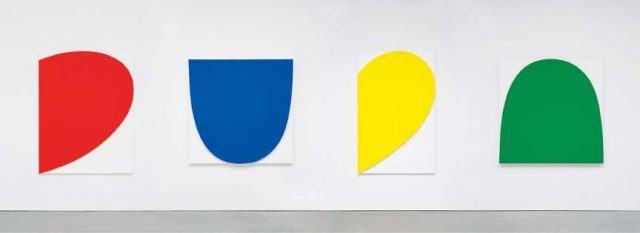 Ellsworth Kelly paintings from an exhibition at the Marion Goodman Gallery