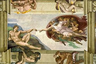Michelangelo, Sistine Chapel detail.