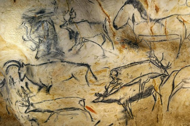 Ancient cave drawing, artist unknown